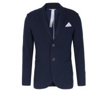 Baumwoll-Blazer mit Einstecktuch Navy