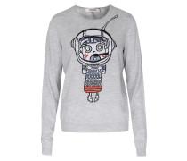 Merino-pullover Happy Planet Grey