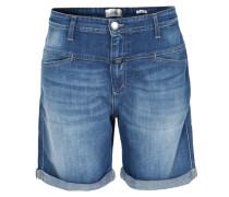 Jeans-Shorts mit Umschlag Mittelblau