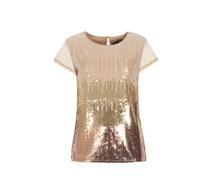 PATRIZIA PEPE Shirt Mit Pailletten-vorderteil Damen Farbe: gold