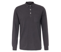 Polo-Long Sleeve Carbone Anthrazit