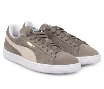 Sneakers Suede Classic Grey White