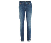 Slim-Fit Selvedge Denim Jeans in Mittelblau