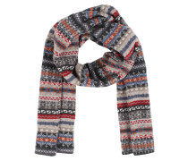 Wollschal Mit Fair-isle Muster Grey Multi
