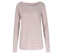 Baumwoll-langarmshirt Mit Streifen