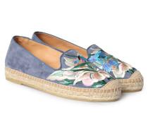 Veloursleder-Espadrilles mit floraler Stickerei Ante Jeans