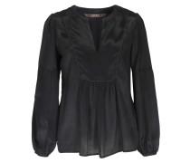 Bluse aus Seiden-Viskose Mix Schwarz