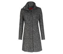 Melierter Mantel Maluba Im Woll-mix Schwarz/weiß