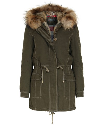 iq berlin damen iq berlin parka mit pelzbesatz limited edition damen farbe olive reduziert. Black Bedroom Furniture Sets. Home Design Ideas