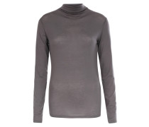Langarmshirt aus Tencel-Stretch mit Turtleneck Steel Grey