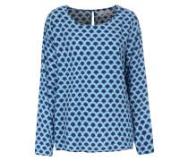 Viskose-Bluse mit Wellen-Print Blue Rave