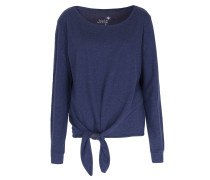 Sweater Mit Knotendetail Im Baumwoll-cashmere-mix Navy