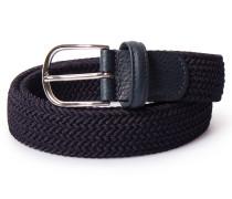 Gürtel aus geflochtenen Textil-Bändern Navy