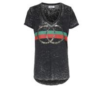 Shirt Emmalyn Mit Streifenprint Black