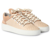 Sneakers Mountain Cut Woven Front Beige