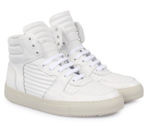 Ledersneaker High-top Weiß