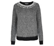 Pullover Im Woll-mix Mit Schmuck-details