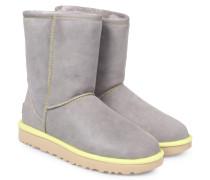 Lammfell-Boots Classic Short Neon Hellgrau