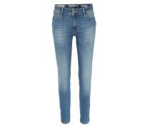 Skinny Jeans Athena mit Zipper Mittelblau