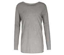 Baumwoll-langarmshirt Used-look Mid Grey