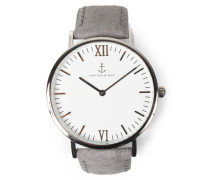 Armbanduhr Campus Leather Grey