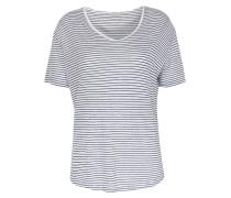 Shirt Edita Im Rayon-leinen-mix Dunkelblau/weiß Gestreift