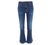 High-waist Slim Flare Jeans The Jodi Crop Dunkelblau