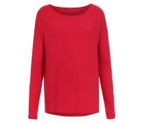 Langarmshirt aus Modal-Stretch Cherry Red