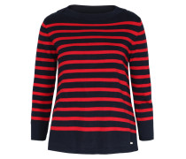 Gestreifter Pullover Milano Stitch Navy Rot