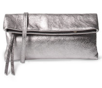 Foldover-clutch Mit Metallic-finish Silber