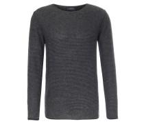 Pullover aus Alpaka-Merinowoll-Mix Anthrazit gestreift