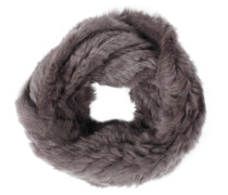 Loopschal Aus Fell Dark Grey