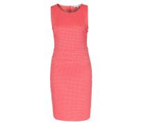 Kleid mit Kachelmuster Rot