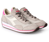 Sneakers Im Material-mix Grey/pink