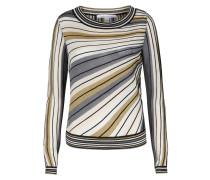 Gestreifter Pullover Joletta mit Seide und Lurex-Details