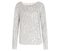 Sweater Mit Leoprint Creme/taupe