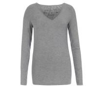 Langarmshirt aus Modal-Stretch Grey Melange