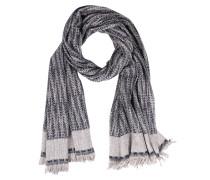 Schal im Baumwoll-Leinen-Mix Grau/Blau meliert