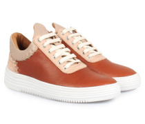 Sneakers Low Top All Leather Coral