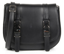 Saddle-Mini-Bag mit Schnallen Nero