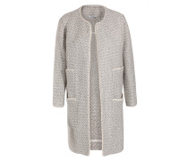 Mantel in Tweed-Optik im Leinen-Baumwoll-Mix Grigio