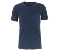 Baumwoll T-shirt Runo Mit Brusttasche Navy