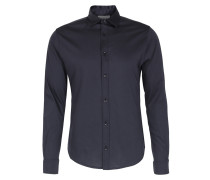 Jersey-hemd In Dunkelblau