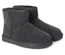 Lammfell-boots Classic Mini Serein Black