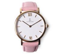 Armbanduhr Joy Velvet Leather Rosé