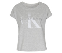 Boxy Shirt Taka mit Print in Mittelgrau