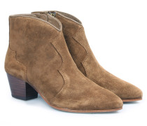 Veloursleder-ankle-boots Im Western-stil Russet