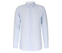 Leinenhemd mit New-Kent-Kragen Hellblau