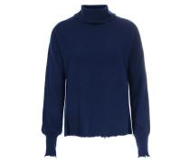 Cashmere-Pullover mit Rollkragen Deep Blue