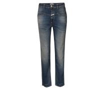 High-waist Jeans Pedal Pusher Indigo Blue